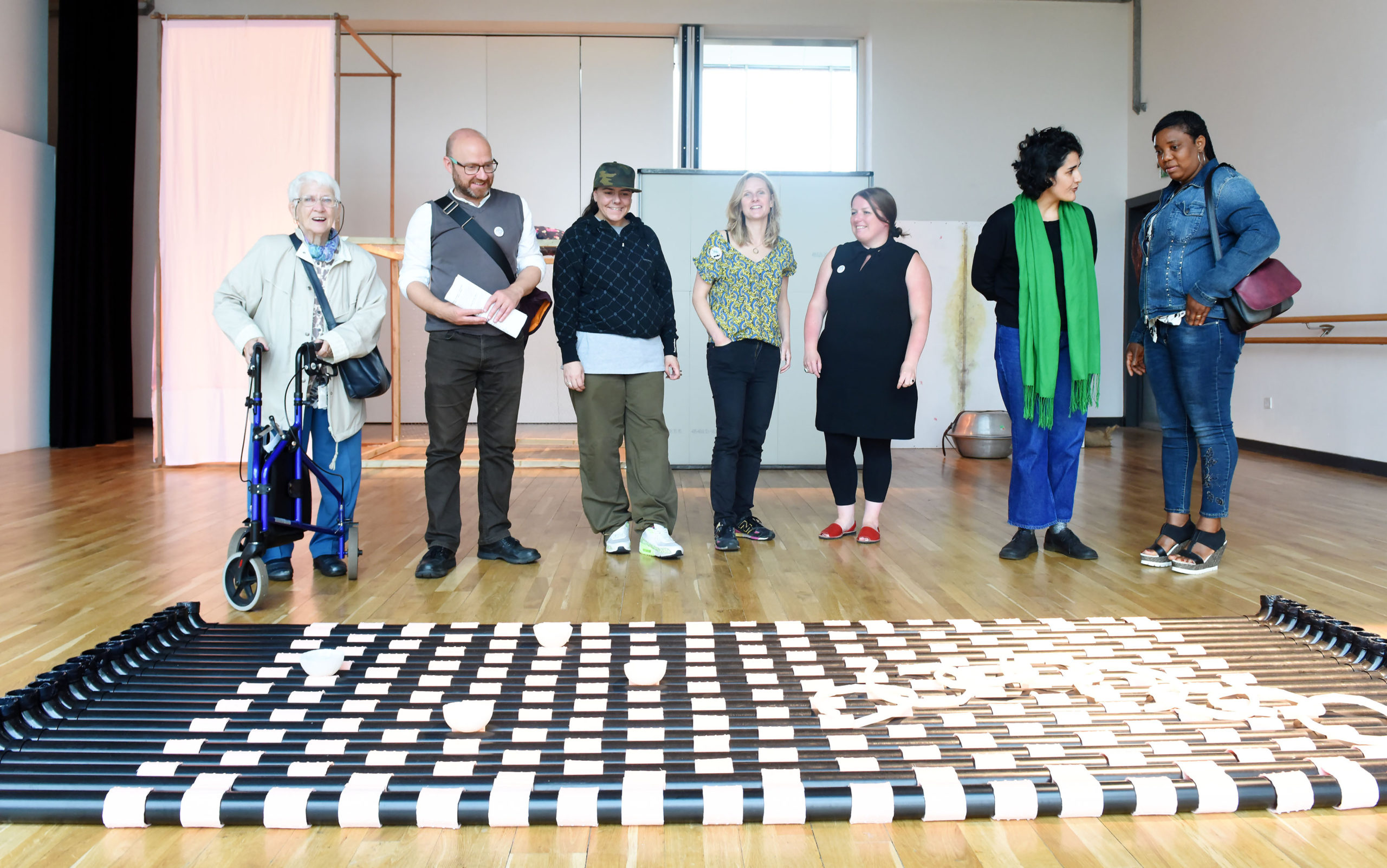 Patrick Harvie, Art in Action visit to Platform Easterhouse, August 2019