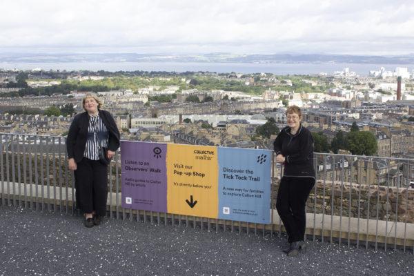 Sarah Boyack MSP with Kate Gray, Director of Collective Gallery, Edinburgh