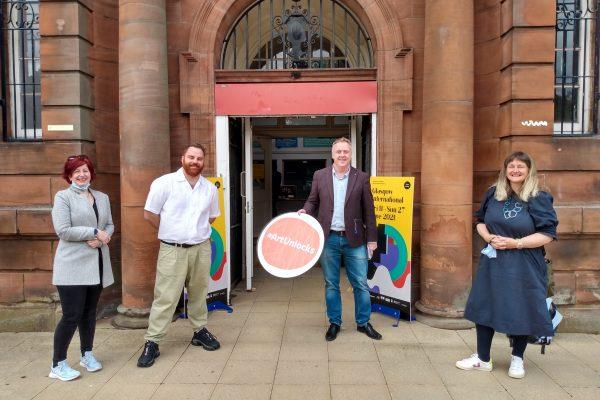 Bob Doris MSP visits 'You're Never Done' a Glasgow International exhibition at Springburn Museum